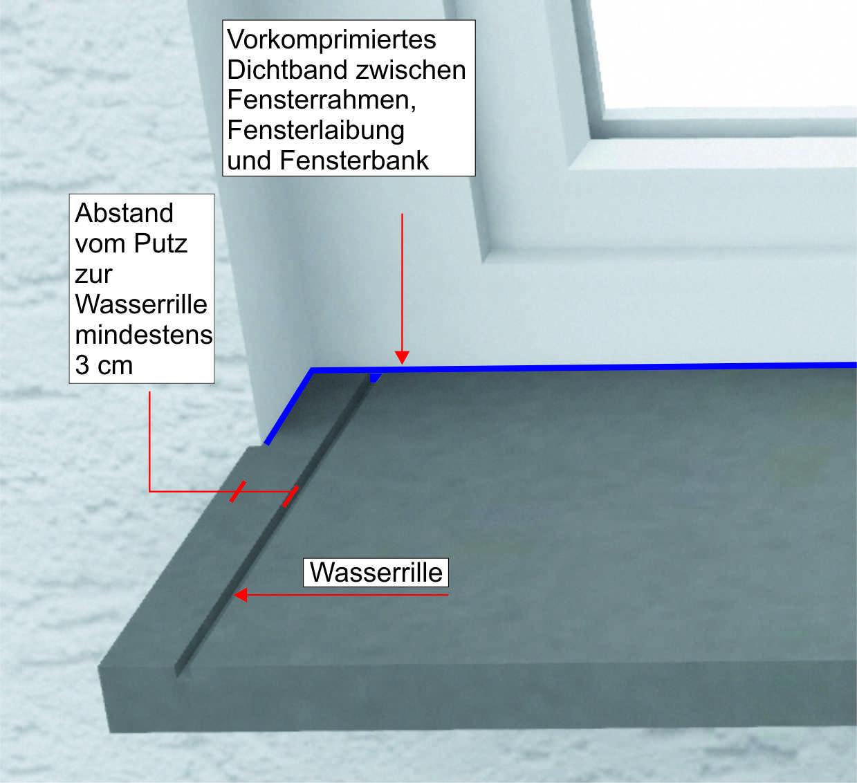 Granit Außenfensterbank