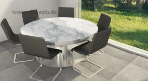 Marmortisch Rund Carrara