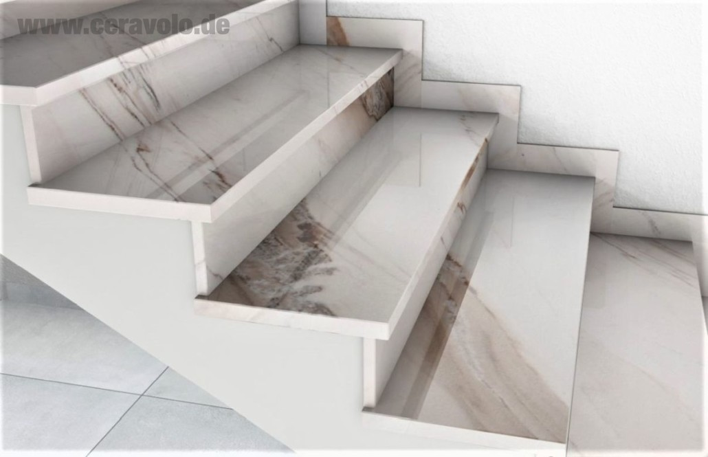 Marble staircase Palissandro Classico
