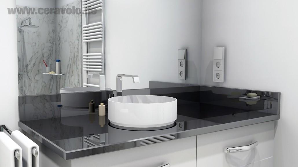Waschtischplatte Nero Assoluto