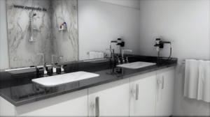 Waschtisch Platten Nero Assoluto